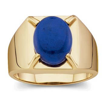 Men's Genuine Lapis Ring