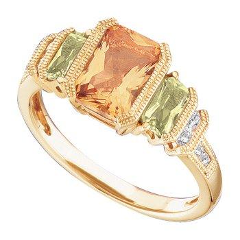 Genuine Multi Gem-stone & Diamond ring