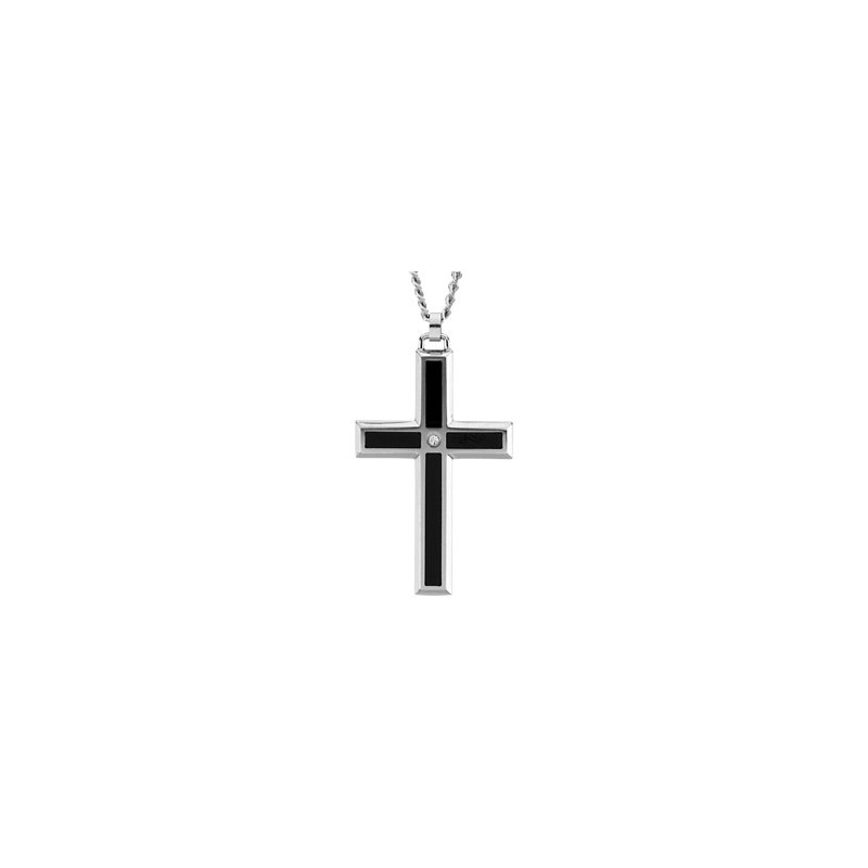 Religious Jewelry Enamel Inlay Cross Necklace