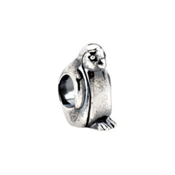 Kera Sterling Silver Penguin Bead