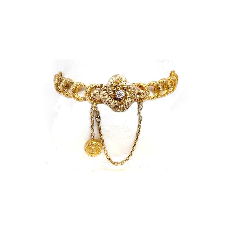 Estate & Vintage Vintage yellow gold and diamond bracelet