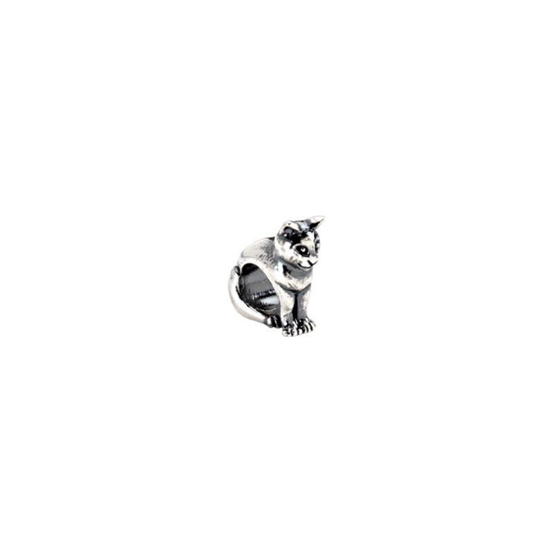 Holiday Ideas Kera Sterling Silver Cat Slider Bead