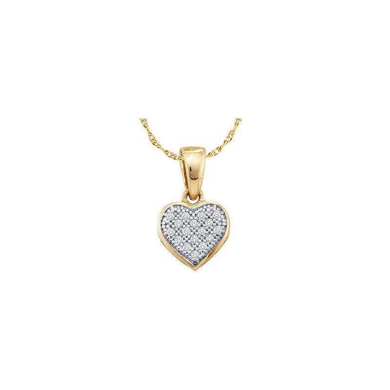 Religious Jewelry Diamond Heart Pendant