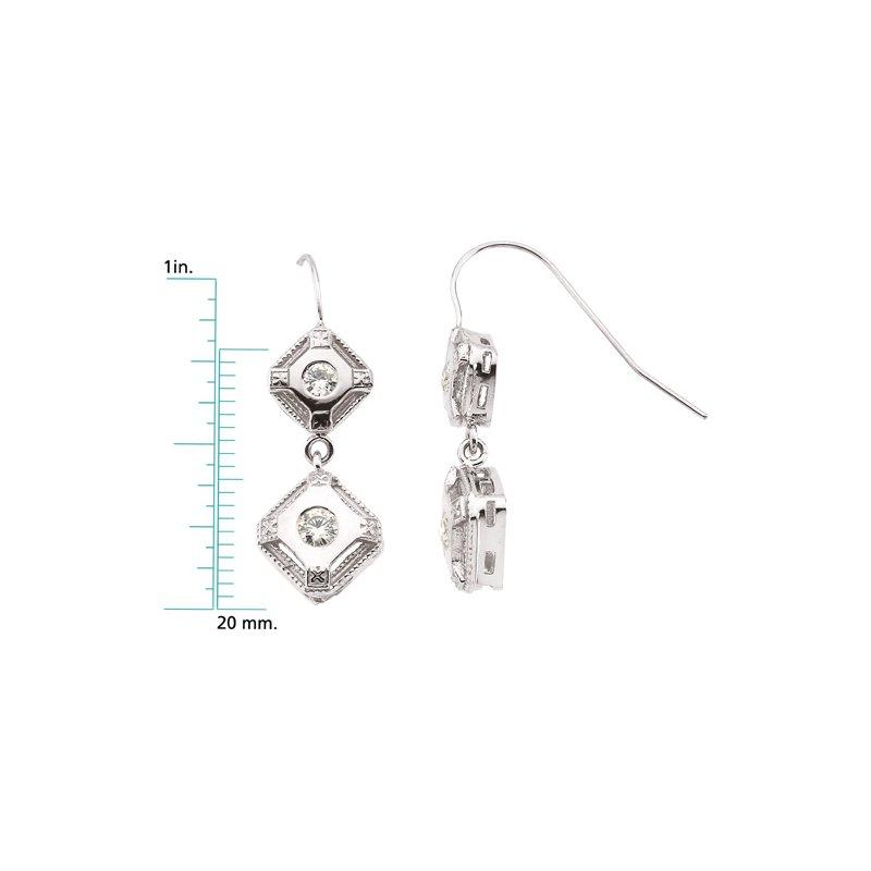 Ladies' Jewelry Moissanite Earrings