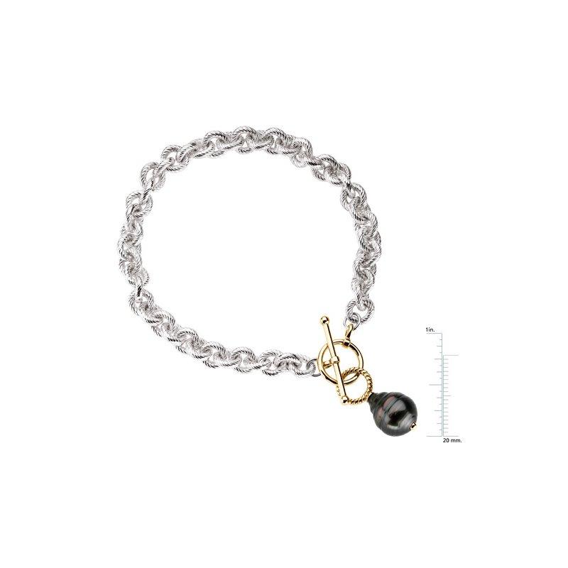 Ladies' Jewelry Tahitian Cultured Pearl Toggle Bracelet