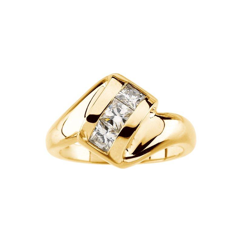 Ladies' Jewelry Moissanite 3-Stone Band