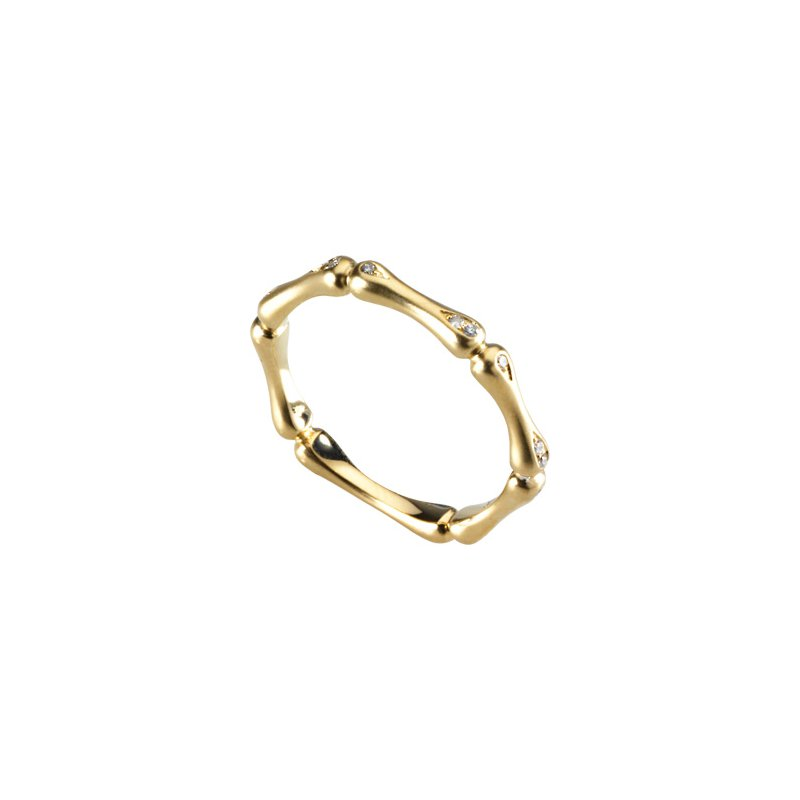 Ladies' Jewelry Diamond Bamboo Stackable Ring