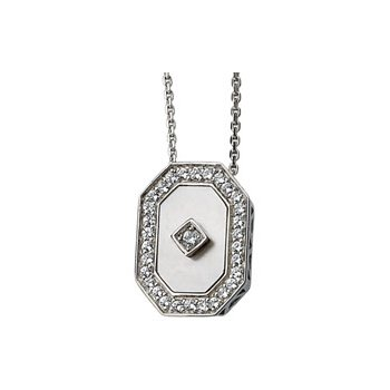 Genuine Mother of Pearl & Cubic Zirconia Necklace