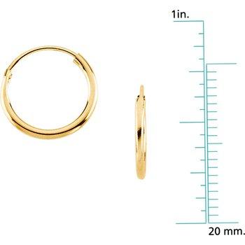 Children's Endless Hoop Earrings - 12mm
