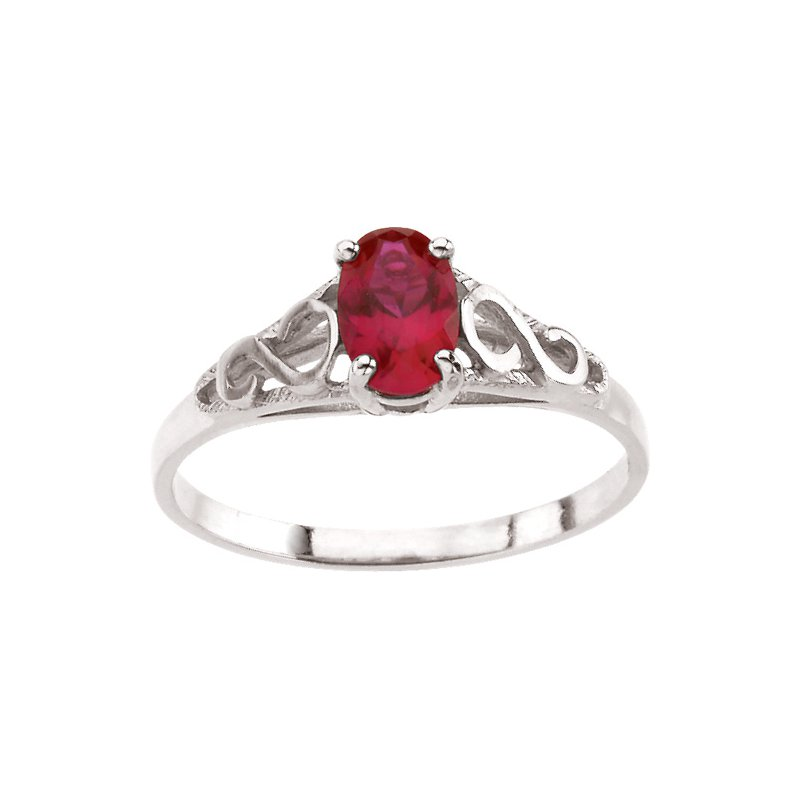 Birthstone Jewelry Teen Imitation July Birthstone Ring