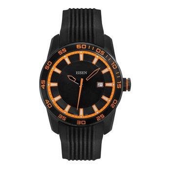 Eisen Gent's Black & Orange Sports Quartz Wrist Watch