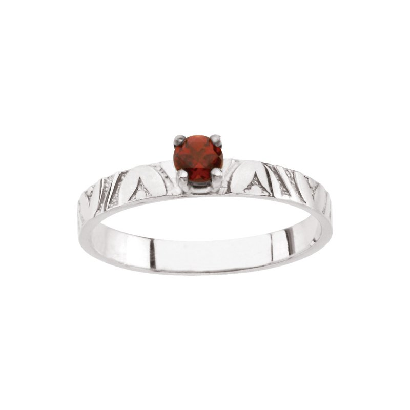 Birthstone Jewelry Children's Genuine Garnet January Birthstone Ring