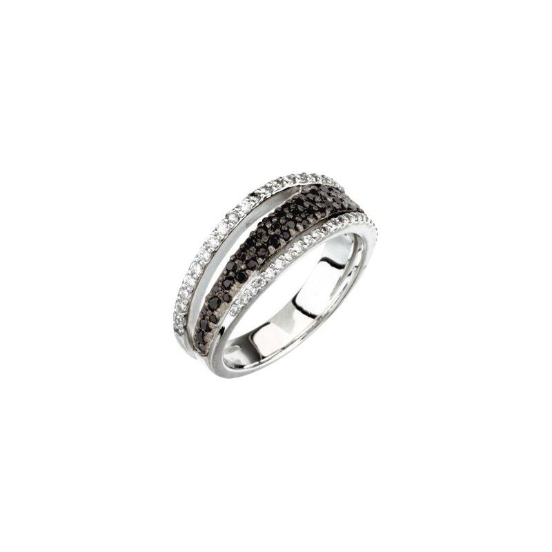 Holiday Ideas Genuine Black Spinel & Diamond Ring