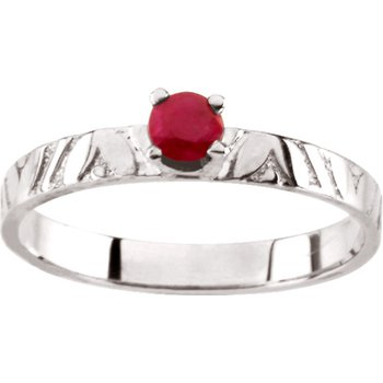 Children's Genuine Ruby July Birthstone Ring