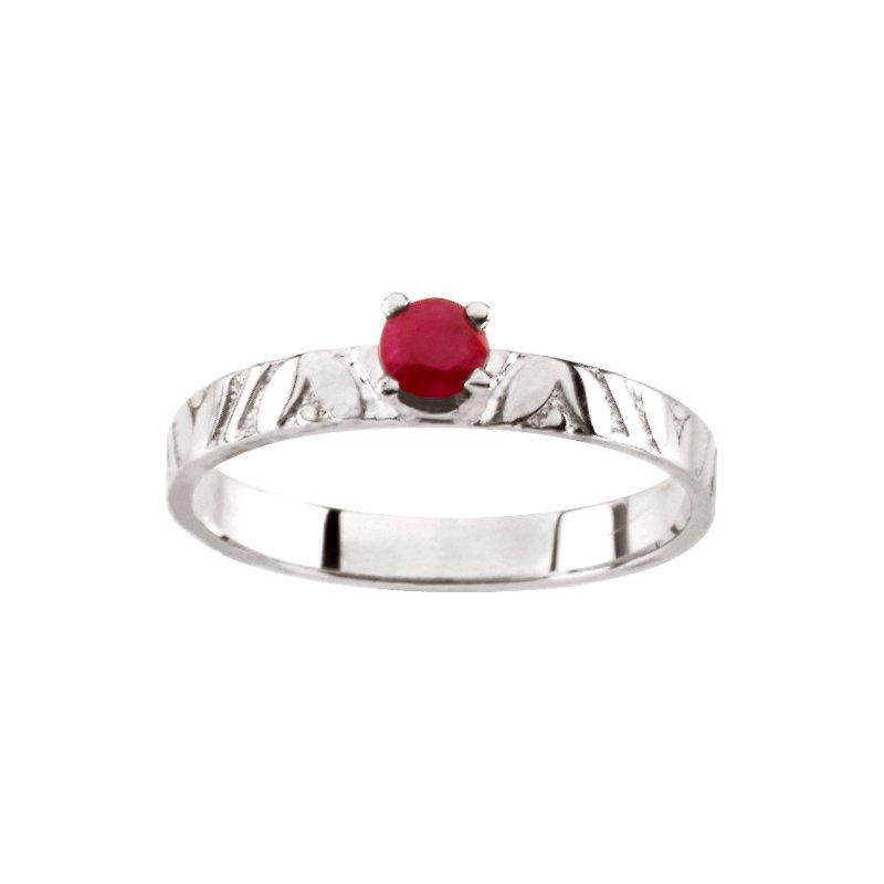 Birthstone Jewelry Children's Genuine Ruby July Birthstone Ring