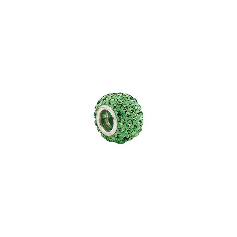 Holiday Ideas Kera Roundel Bead with Pave' Peridot Crystals