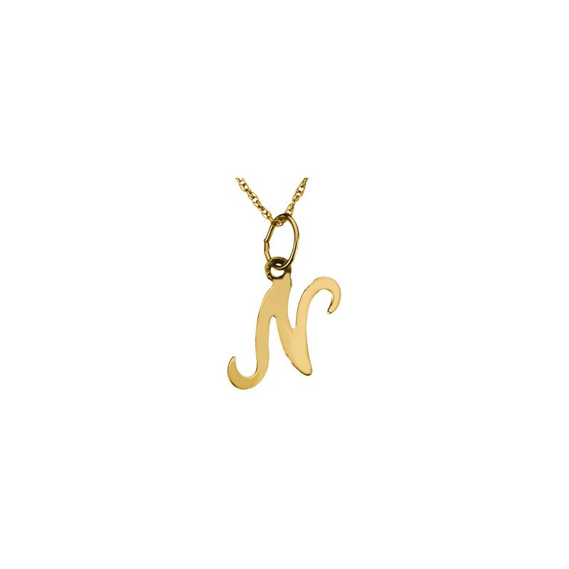"""Ladies' Jewelry Initial """"N"""" Necklace"""