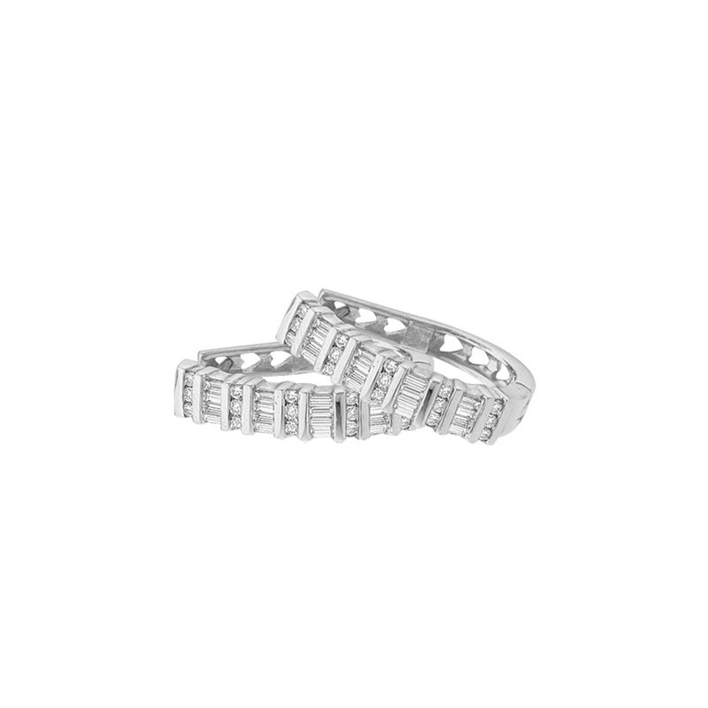 Valentine Gift Ideas Diamond Hoop Earrings
