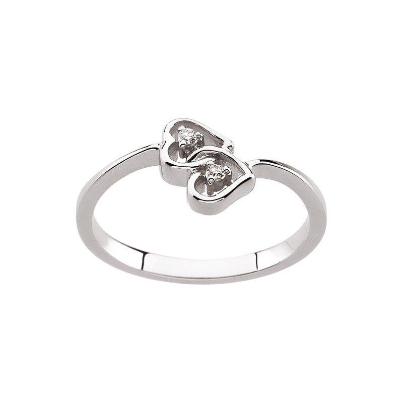 Ladies' Jewelry Diamond Hearts Ring
