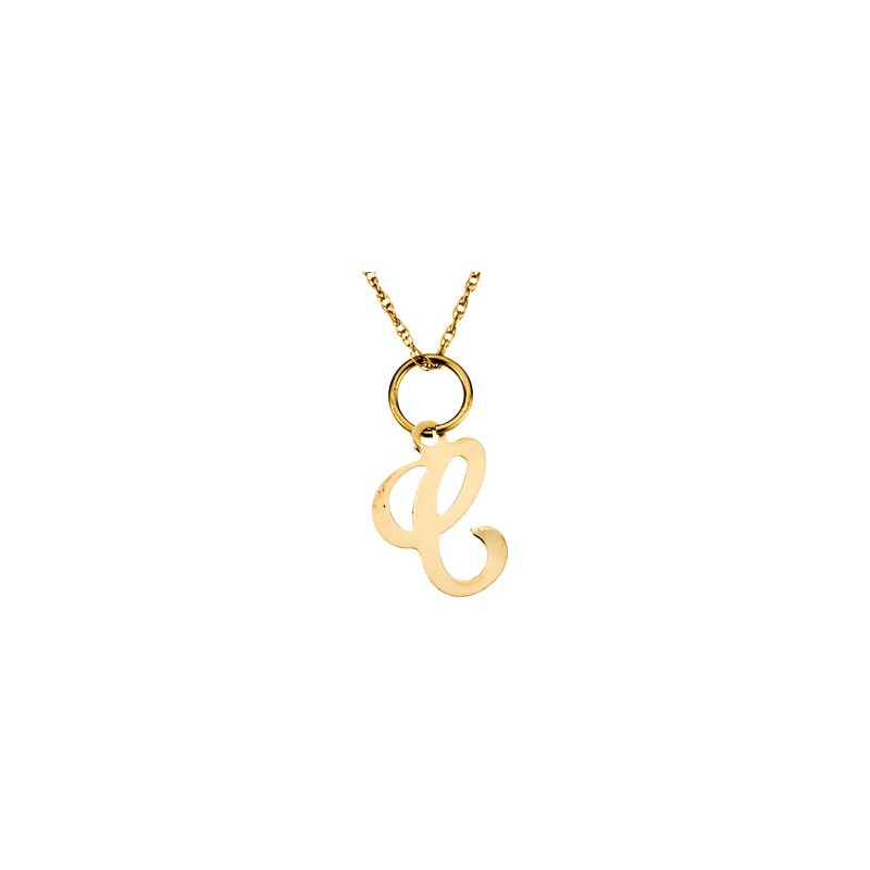 "Ladies' Jewelry Initial ""C"" Necklace"