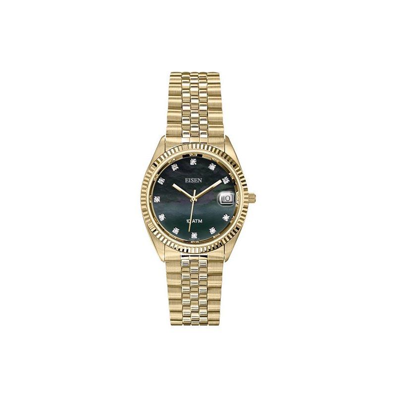 Eisen Watches Eisen Gent's Gold Tone Quarts Wrist Watch