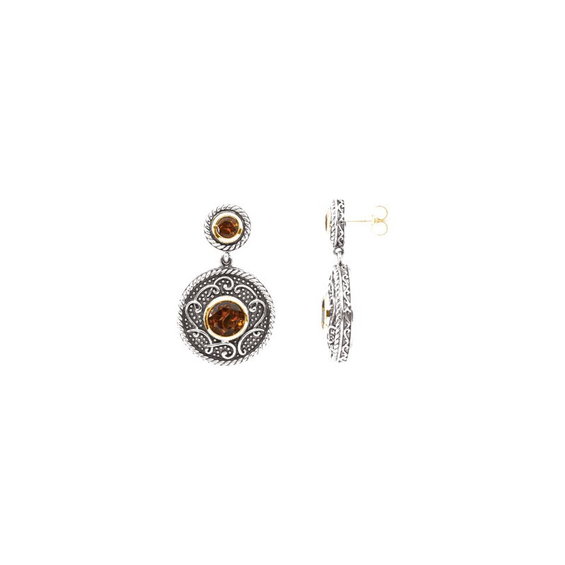 Ladies' Jewelry Genuine Madeira Citrine Earrings
