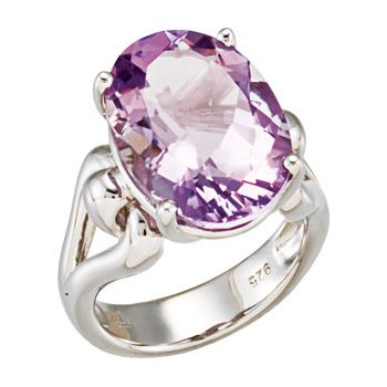 Genuine Rose De France Amethyst Ring