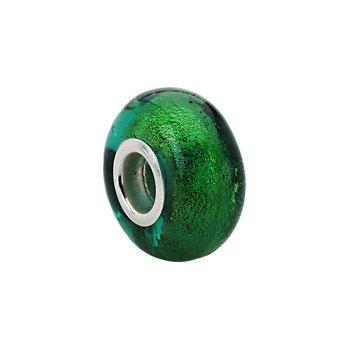 Kera Green Murano Glass Bead