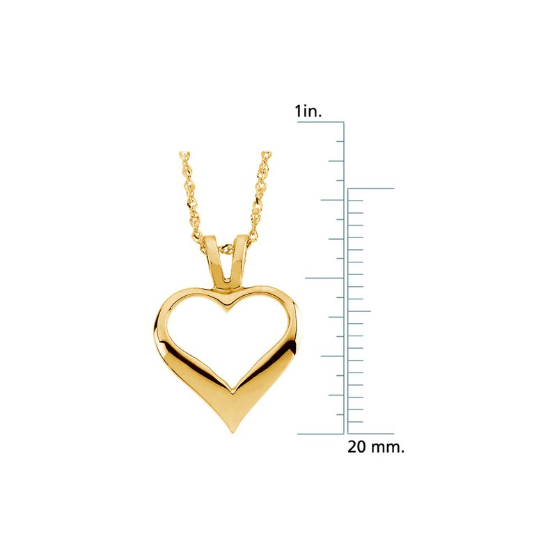 Ladies' Jewelry Heart Pendant On A Sparkle Singapore Chain