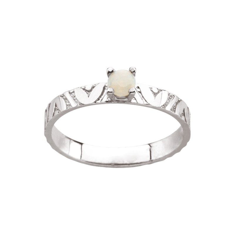 Birthstone Jewelry Children's Genuine Opal October Birthstone Ring