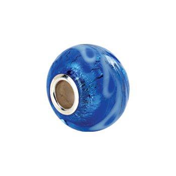 Kera Silver & Blue Murano Glass Bead