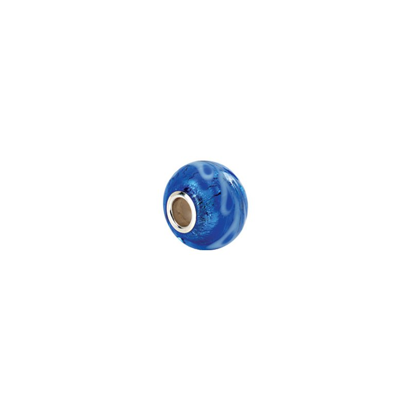 Holiday Ideas Kera Silver & Blue Murano Glass Bead