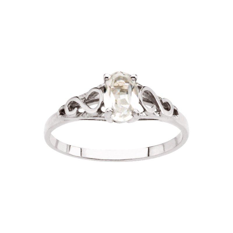 Birthstone Jewelry Teen Imitation April Birthstone Ring