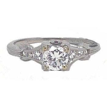 Platinum and Diamond, Vintage Bridal Ring