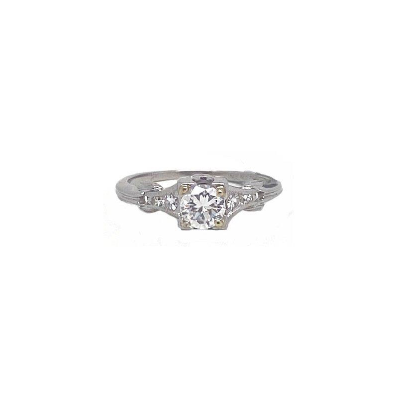 Vintage Bridal Platinum and Diamond, Vintage Bridal Ring