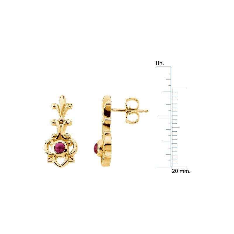 Ladies' Jewelry Genuine Ruby Earrings