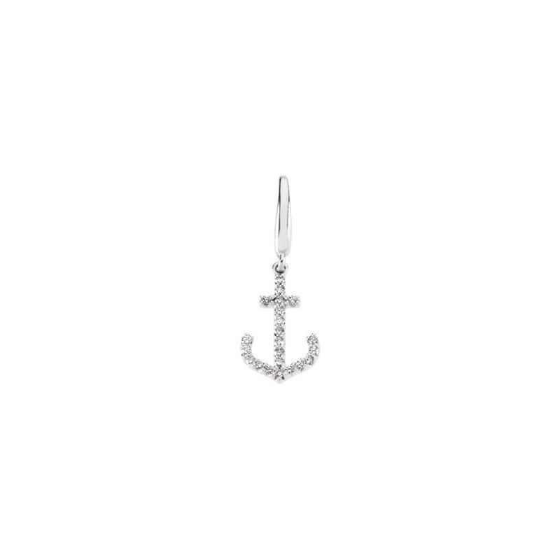 Holiday Ideas 1/8 ct tw Diamond Anchor Charm