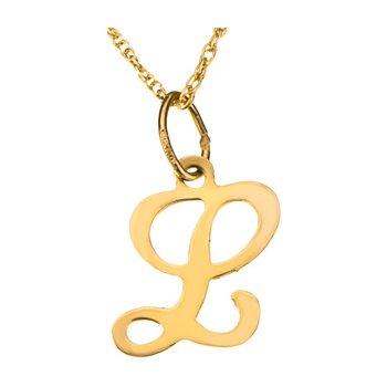"Initial ""L"" Necklace"
