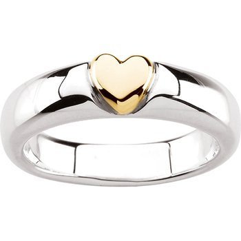 Silver Fashion Heart Ring