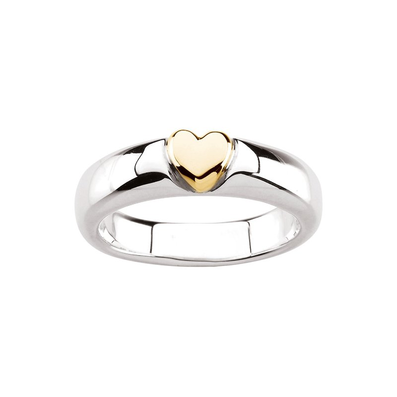 Ladies' Jewelry Silver Fashion Heart Ring
