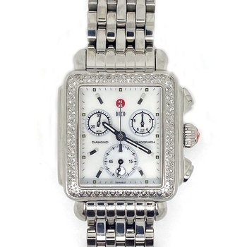 Lady's stainless steel and Diamond, Michelle Deco watch
