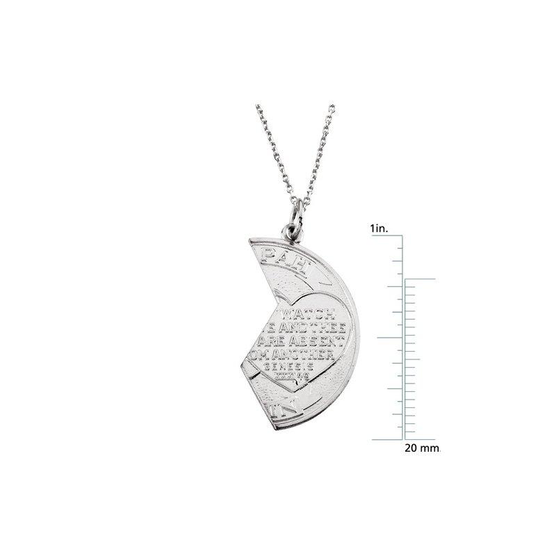 Religious Jewelry Mizpah Coin Pendant