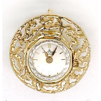 Vintage yellow gold watch pendant