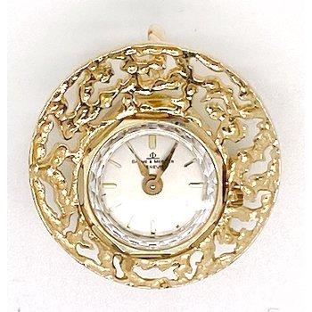 Vintage yellow gold watch pendant