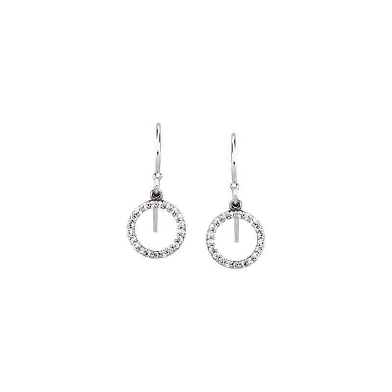 Ladies' Jewelry Diamond Circle Earrings