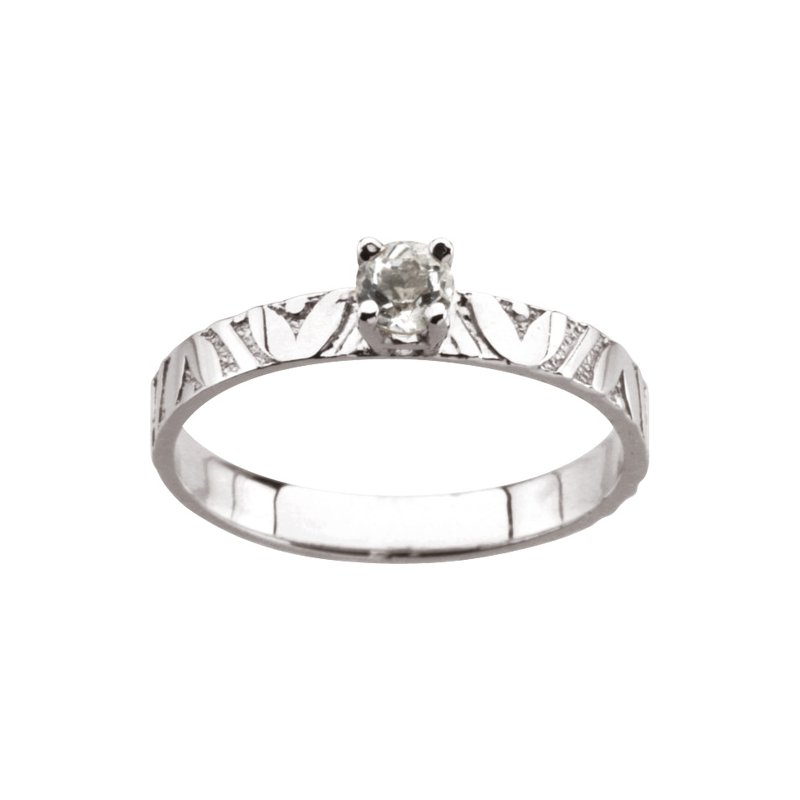 Birthstone Jewelry Children's Genuine White Topaz April Birthstone Ring