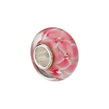 Kera Pink Flower Glass Bead