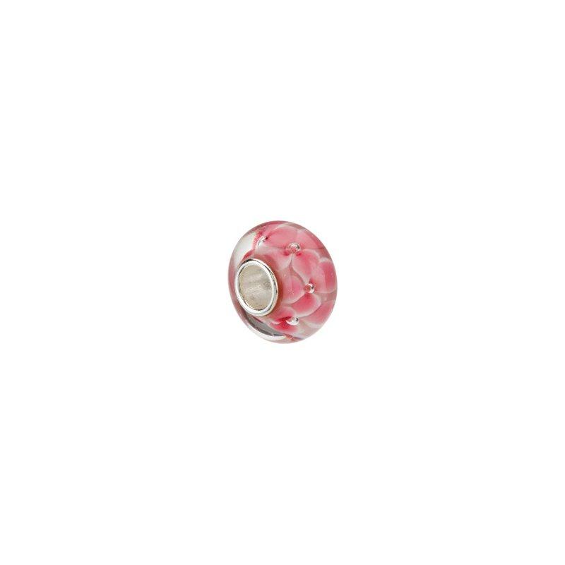 Holiday Ideas Kera Pink Flower Glass Bead