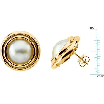 Mabe Cultured Pearl Earrings