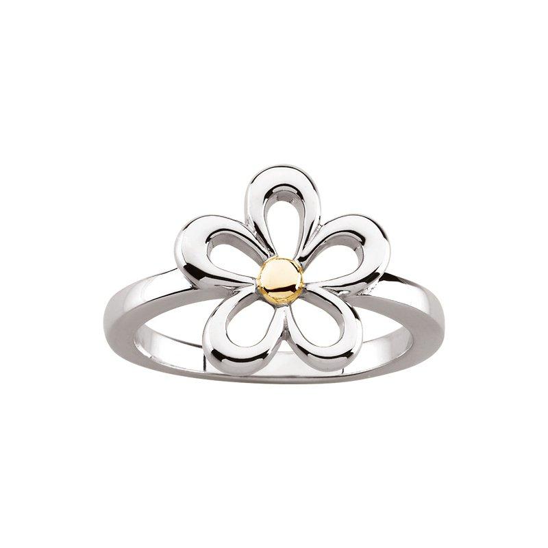 Ladies' Jewelry Gold Flower Ring